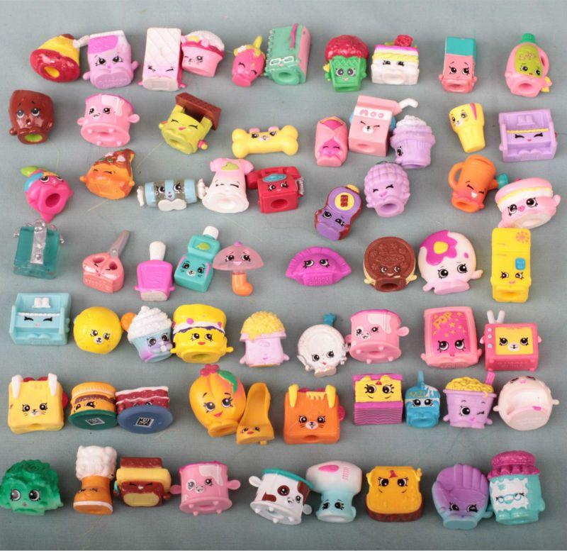 20pcs/1lot shopkin shoes Food Cartoon 1-3cm Random Action Figures Brinquedo Juguetes Toys Kids Christmas Gift