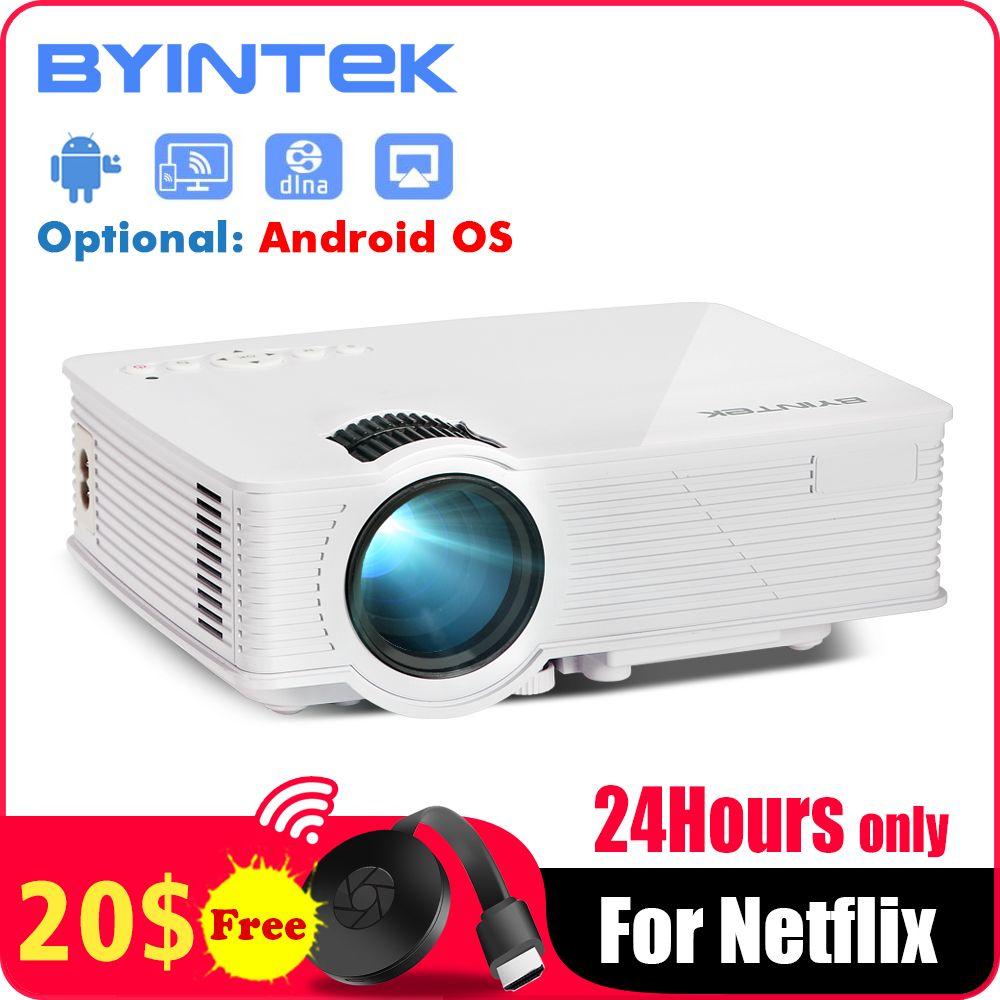 BYINTEK CIEL BT140 Mini Micro led Cinéma Portable Vidéo HD USB projecteur hdmi pour Home Cinéma (En Option Plus/Android version)