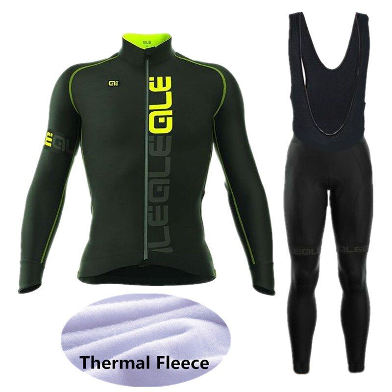ALE Cycling Set Winter Thermal Fleece Long Sleeves Cycling Jerseys Ropa Maillot Ciclismo Bicycle MTB Bike Cycling Clothing W010
