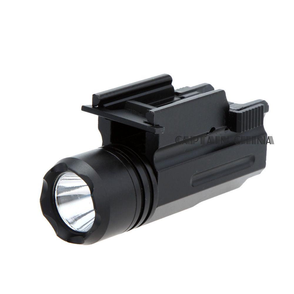 Schrotflinte Licht Gewehr Glock Pistole Flash-Licht 600 Lumen Taktische Taschenlampe Taschenlampe 20mm Schienen Gun Taschenlampe für Pistole Airsoft 20mm