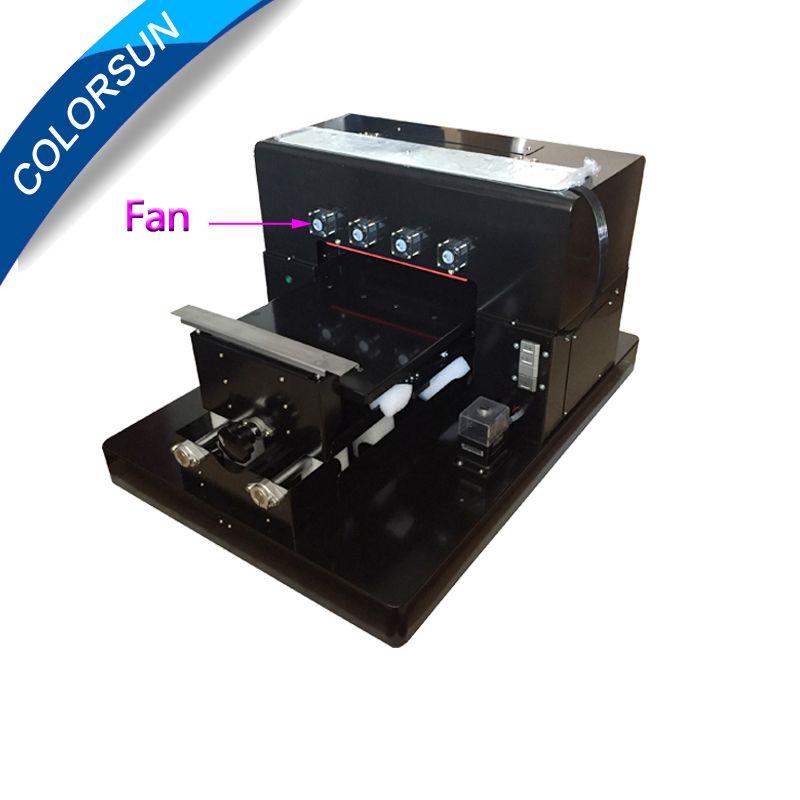 A3 UV Drucker Geprägte Image Printer Maschine A3 Größe Weiß Tinte Uv-flachbettdruckmaschine für Metall/Kunststoff fall