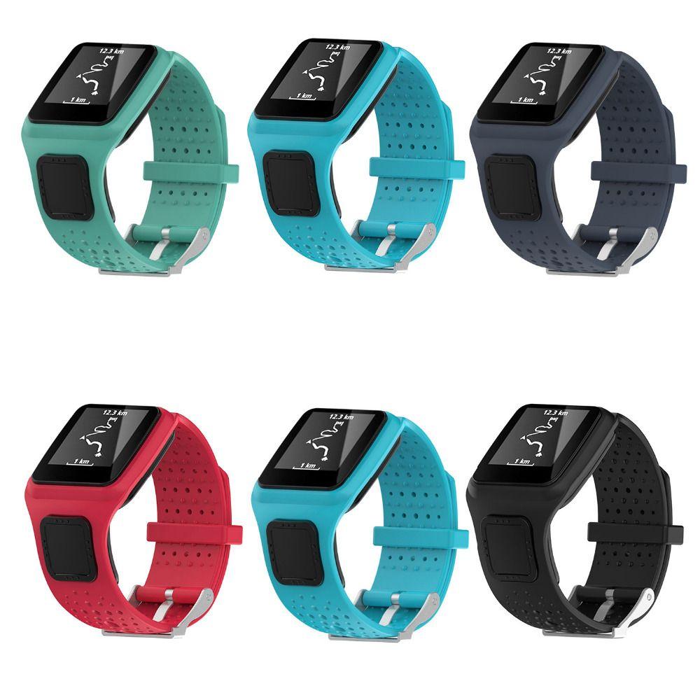 Bande pour TomTom 1 multi-sport GPS HRM CSS AM Cardio coureur montre Silicone Bracelet souple Bracelet