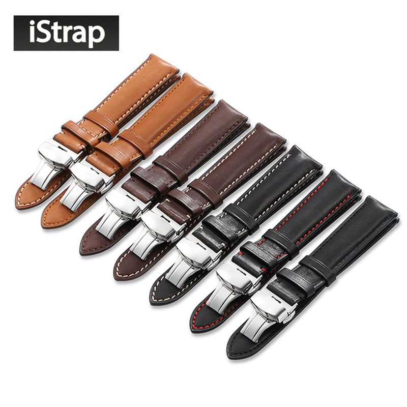iStrap Quick Release Watchband 18mm 19mm 20mm 21mm 22mm Watch Band Deployment Buckle for Omega Tissot Seiko Casio Watch Strap