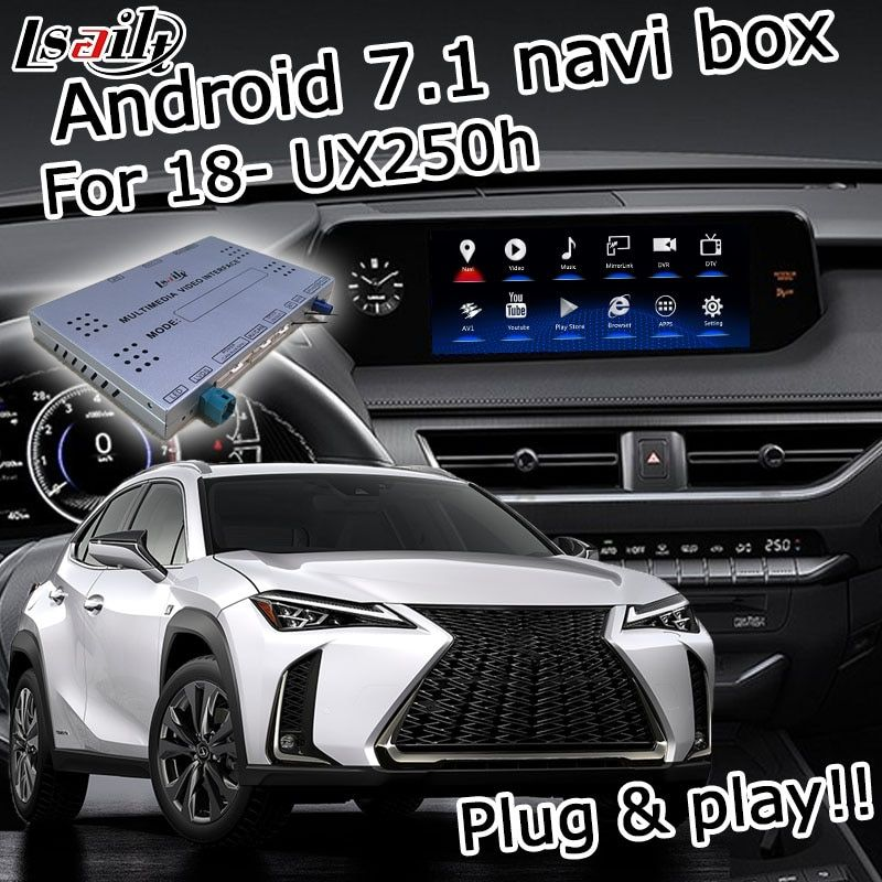 Android GPS navigation box für Lexus UX200 UX250h UX 2018-touchpad control video interface mit Carplay android auto