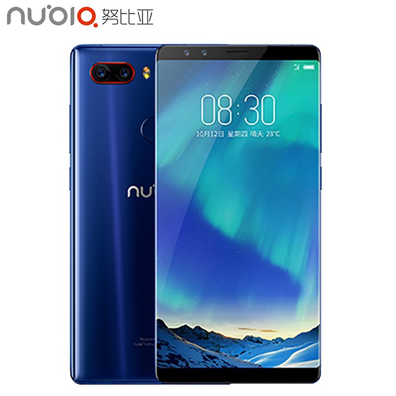 Original ZTE Nubia Z17S 5.73 inch Full Screen Cell Phone 8GB RAM 128GB ROM Snapdragon 835 Android 7.1 Dual Cameras Smartphone