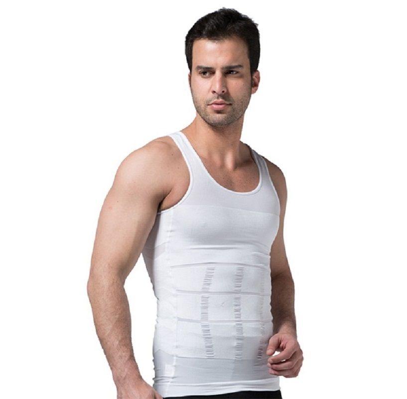 2019 Men Slimming Body Shaper Tummy Shaper Vest Slimming Underwear Corset Waist Waist Cincher Men Bodysuit Dropship