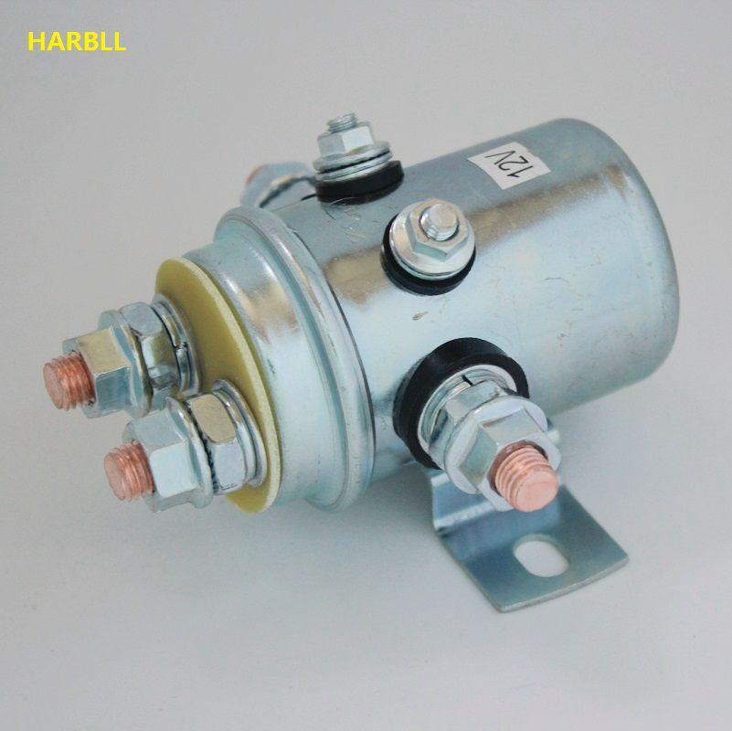 HARBLL 2 PCS 12V SOLENOID RELAY SWITCH For INDUSTRIAL GOLF CART WINCH MOTOR 4x4 4WD OFFROAD ATV UTV