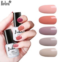 Belen 24 Warna Nude Series Cat Kuku Uv Dipimpin Rendam Off DIY Cat Warna Tinta Gel Uv Gel Cat Kuku pernis Tahan Lama Kuku Gel
