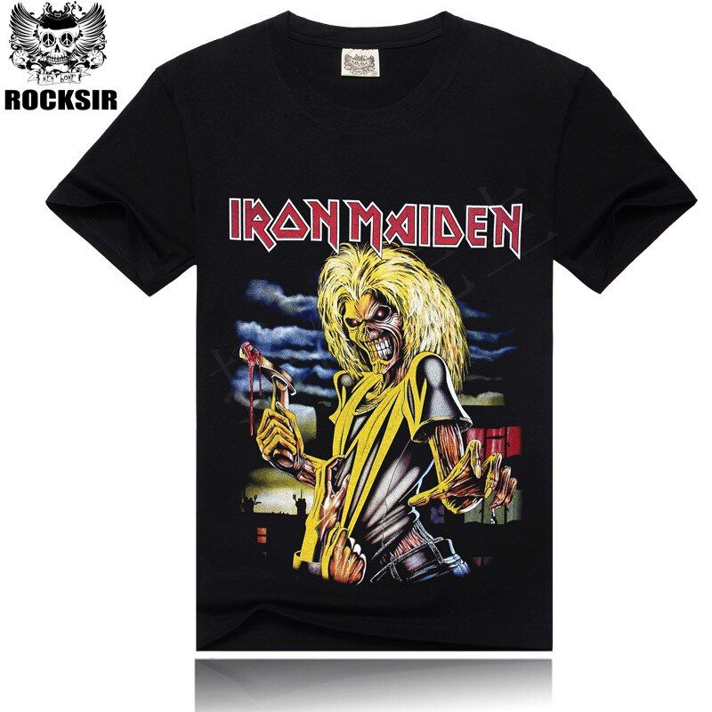 Iron Maiden Brand 3D t shirt New Style 2017 Heavy Metal Streetwear Men's T-shirts 100% Cotton Casual Short Sleeve TOP Tees