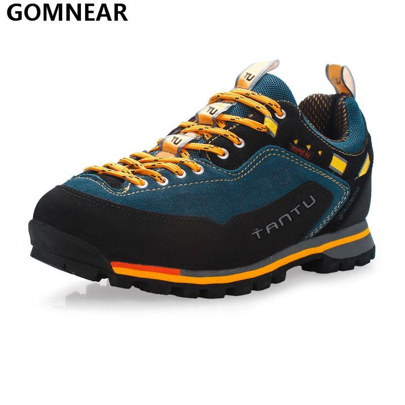 GOMNEAR hommes chaussures de randonnée imperméables pêche en plein air chasse chaussures d'athlétisme antidérapant tourisme marche escalade Camping chaussures de Sport