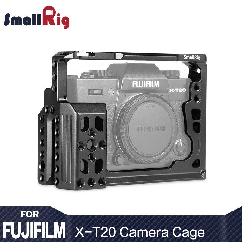 SmallRig X-T20 Dual Camera Cage For Fujifilm X-T20 with NATO Rails, Cold Shoes, 1/4