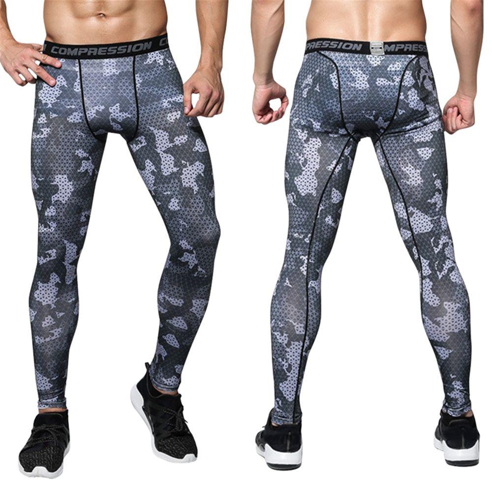 4 seasons ciclismo pantalones medias leggings deporte de baloncesto de los hombres corriendo pantalones de fitness culturismo compresión elástica pantalones