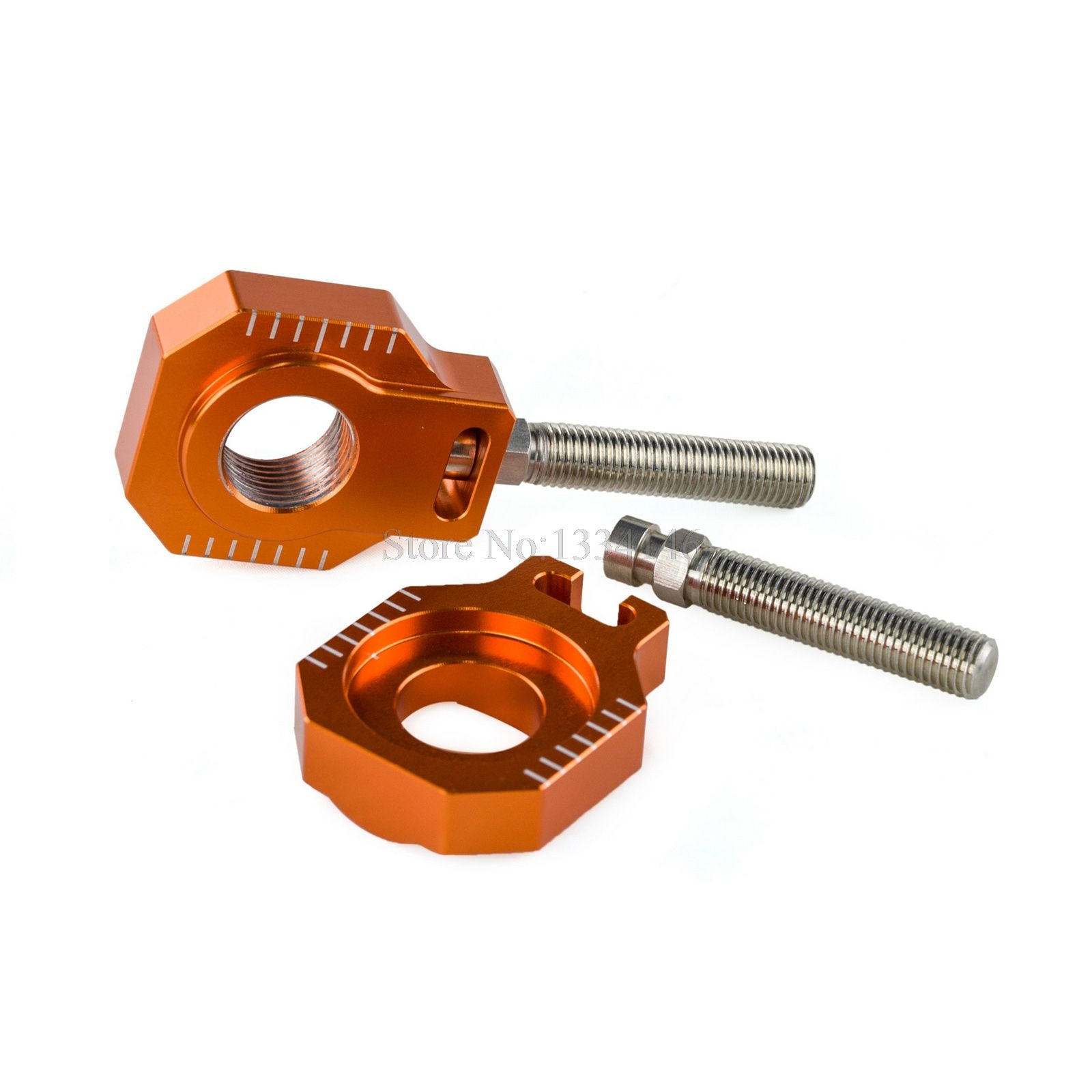 NICECNC Rear Axle Blocks Chain Adjuster For KTM 125 250 300 350 450 525 530 EXC EXCF XCW XCFW 2017 SX SXF XC XCF SX-F EXC-F XC-F