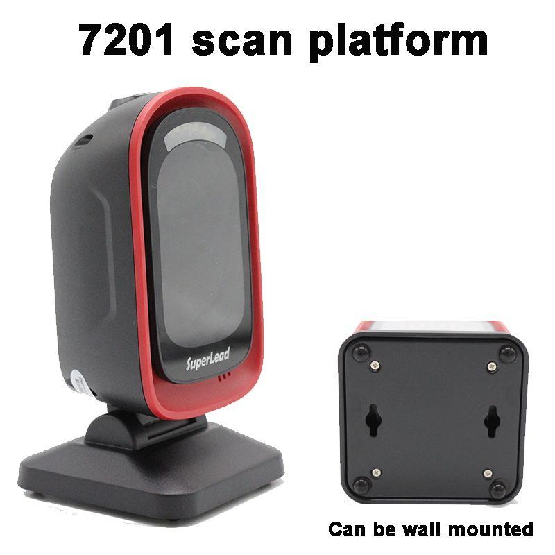 Scanner omnidirectionnel 1D/2D billetterie Scanner de Code QR lecteur de codes à barres bureau Auto sens 2d DM matrice de données scanner de codes à barres