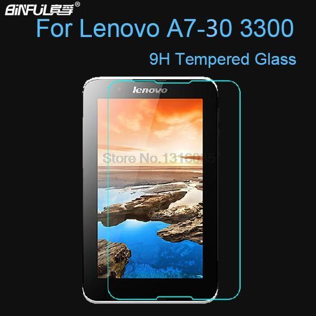 BINFUL Premium 9 H Film de verre trempé de qualité supérieure Anti-éclatement pour Lenovo A7-30 A3300 7 pouces protecteur d'écran de tablette