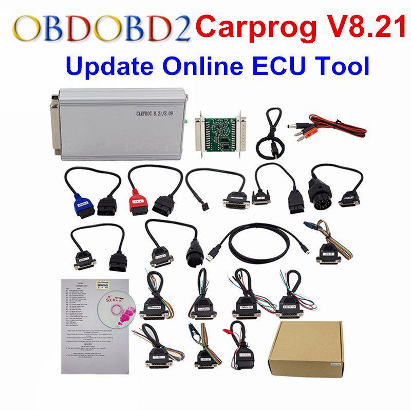 Online Version Carprog V8.21 Carprog V10.05 / 10.93 Car Prog Programmer For Airbag/Radio/Dash/IMMO/ECU Auto Repair Tool