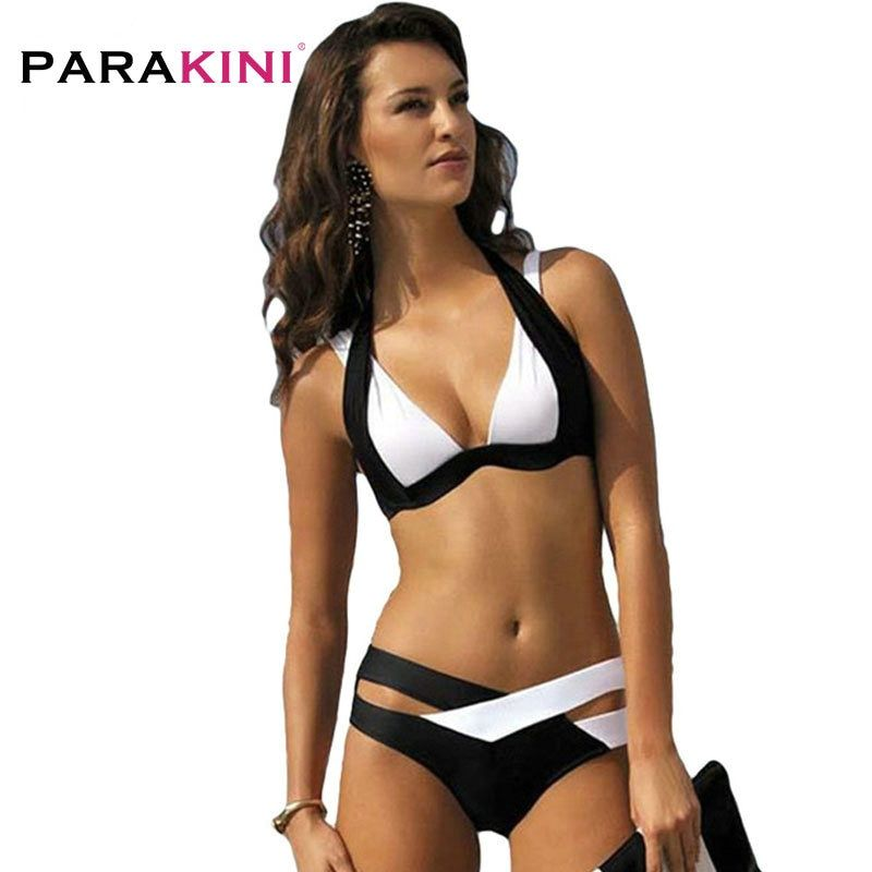 PARAKINI Sexy Bikinis femmes maillot de bain 2019 été ensemble bikini vêtements de plage Push Up maillot de bain bandeau grande taille XL maillots de bain