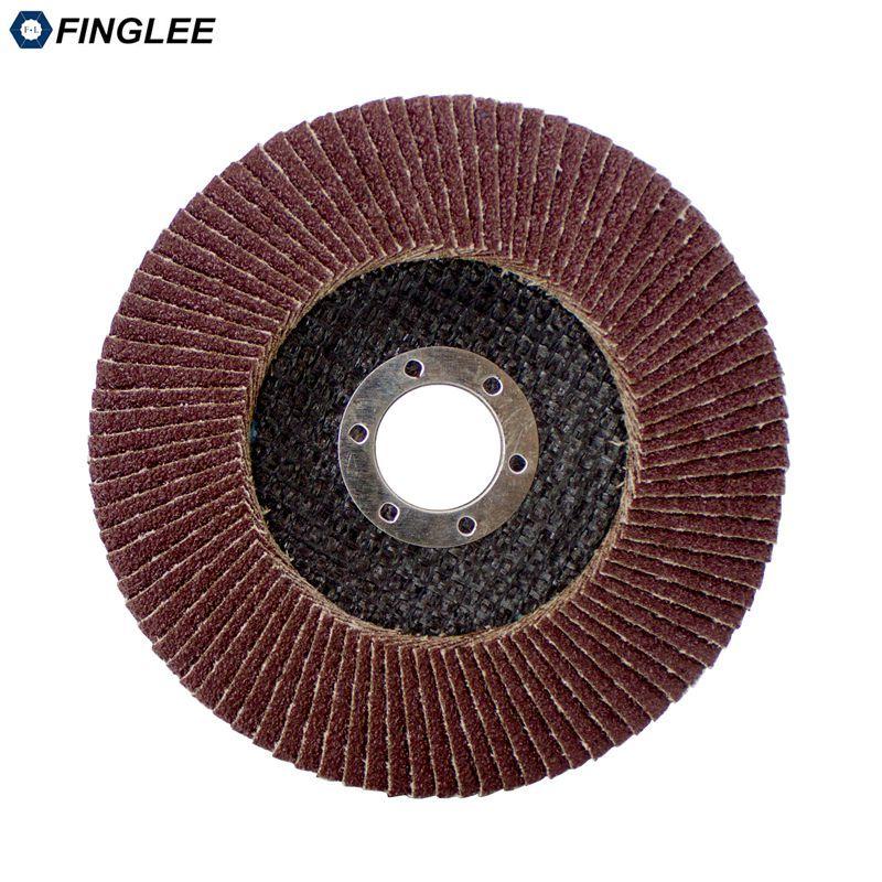 Disques à lamelles de ponçage Dia.125mm 80 grains meules de polissage abrasives meules de polissage polies meules meuleuse d'angle 22.23mm intérieur
