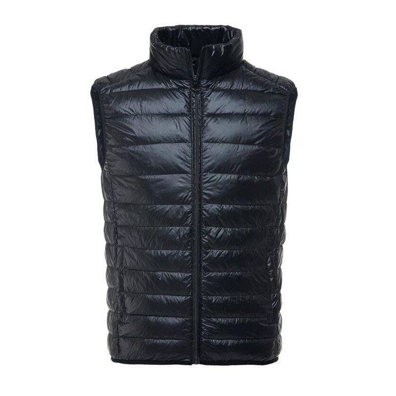 2017 New Autumn Winter White Duck Down Vest Men Ultralight Sleeveless Jacket Casual Slim Waistcoat Vest Male Outwear Warm Coat