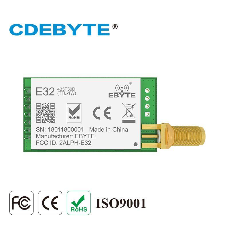 E32-433T30D Lora Longue Portée UART SX1278 433 mhz 1 w SMA Antenne IoT uhf Sans Fil Émetteur-Récepteur Émetteur Récepteur Module