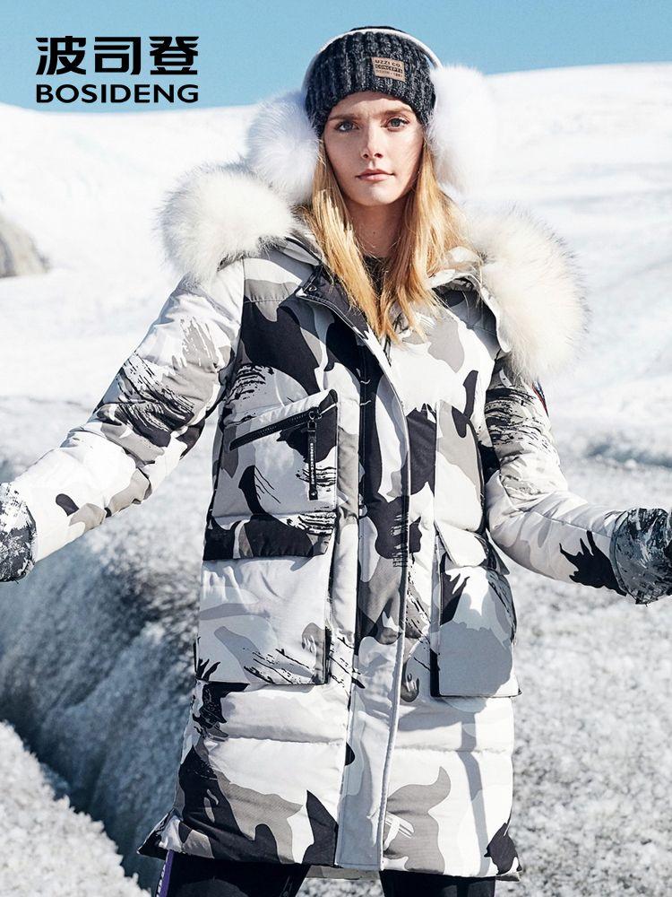 BOSIDENG 2018 new harsh winter thicken goose down coat long parka women coat real fur hooded waterproof windproof B80142146