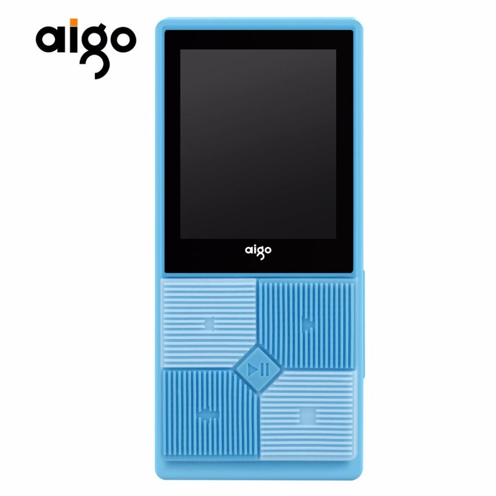 Aigo Multi-functional MP3-206 Portable Rechargeable Music Player 1.8inch TFT Screen Display Adjustable Audio MP3 Player