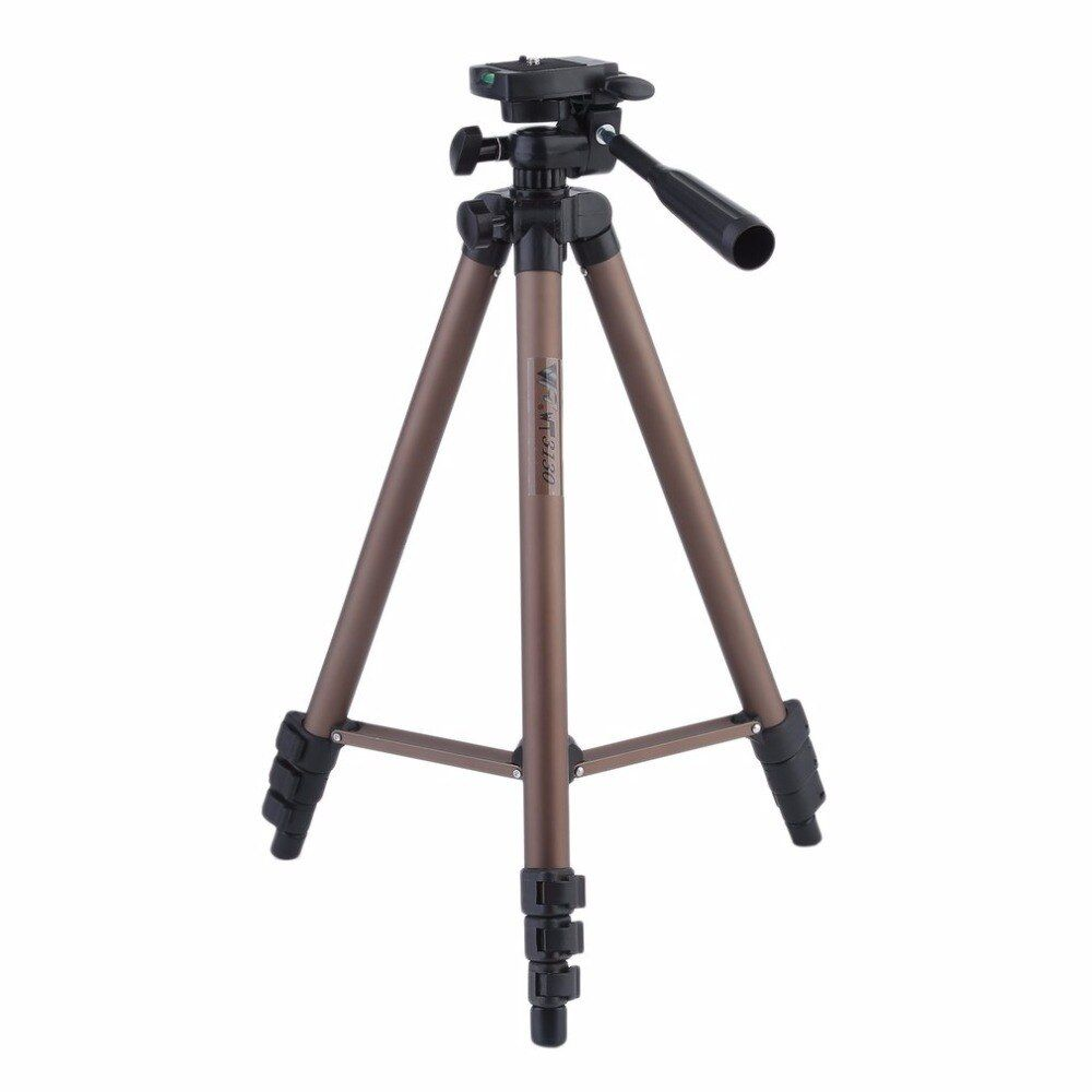 Camera Tripod Bracket Stand Holder Lightweight Aluminum Alloy With Rocker Arm For DSLR Cameras Camcorders WT3130