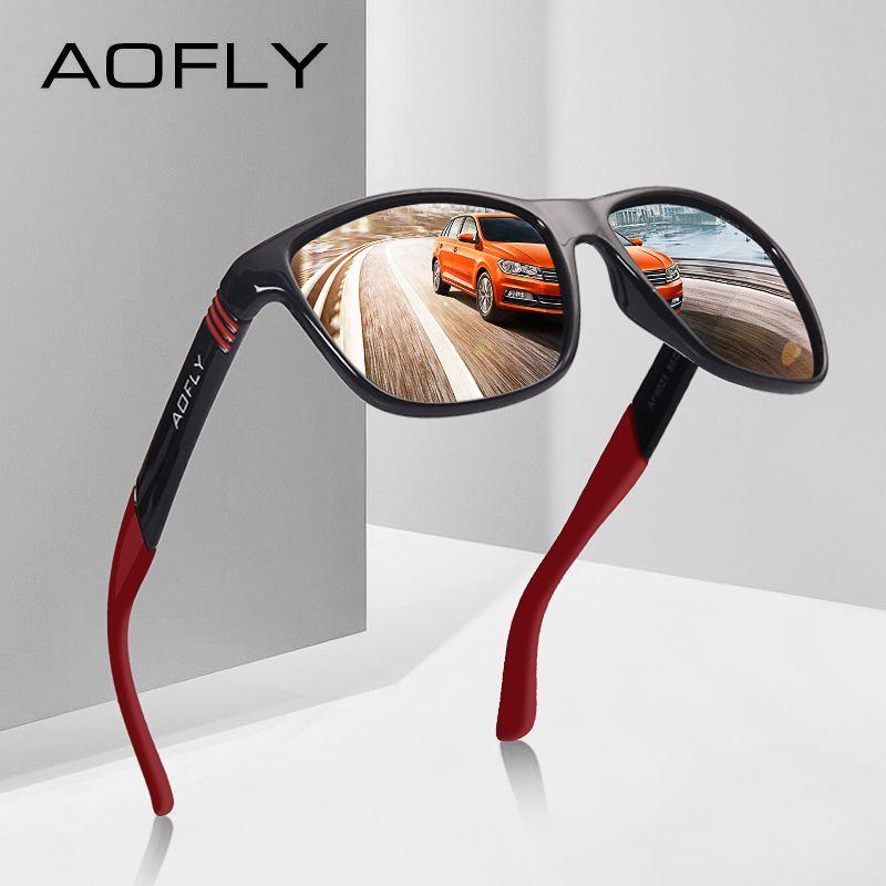 AOFLY Polarisierte Sonnenbrille Männer Frauen Original Brand Designer Polaroid Reflektierende Spiegel Sonnenbrille Unisex Goggle gafas de sol