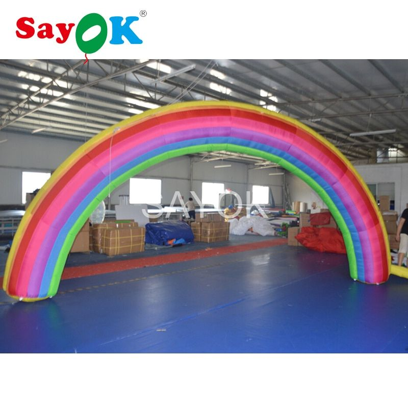 6x3mH Cheap inflatable Rainbow arch for Advertisement with blower