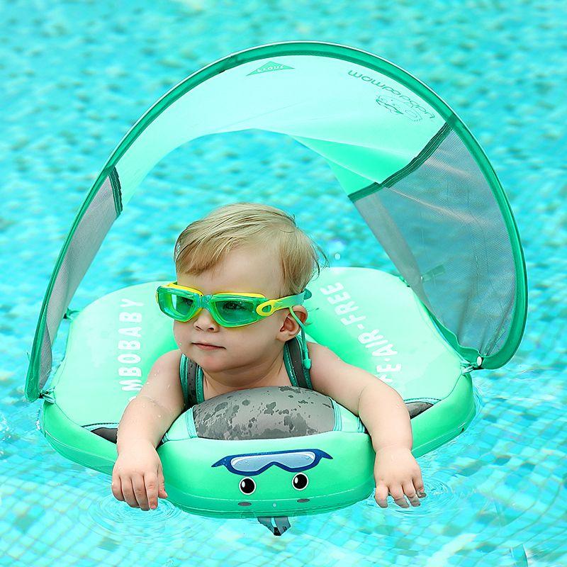 Solide pas de sécurité gonflable pour accessoires bébé natation anneau flottant flotteurs piscine jouet baignoire piscines nager formateur
