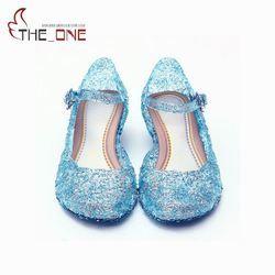 Niñas Elsa PVC sandalias niños verano partido zapatos de baile princesa zapatos cristalinos 5 colores princesa Cosplay Accesorios