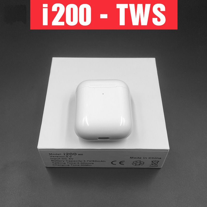 i200 TWS pop-up Wireless Bluetooth Earphone second generation Wireless charging Smart sensor Real Battery PK i10 i20 i12 i80 i30