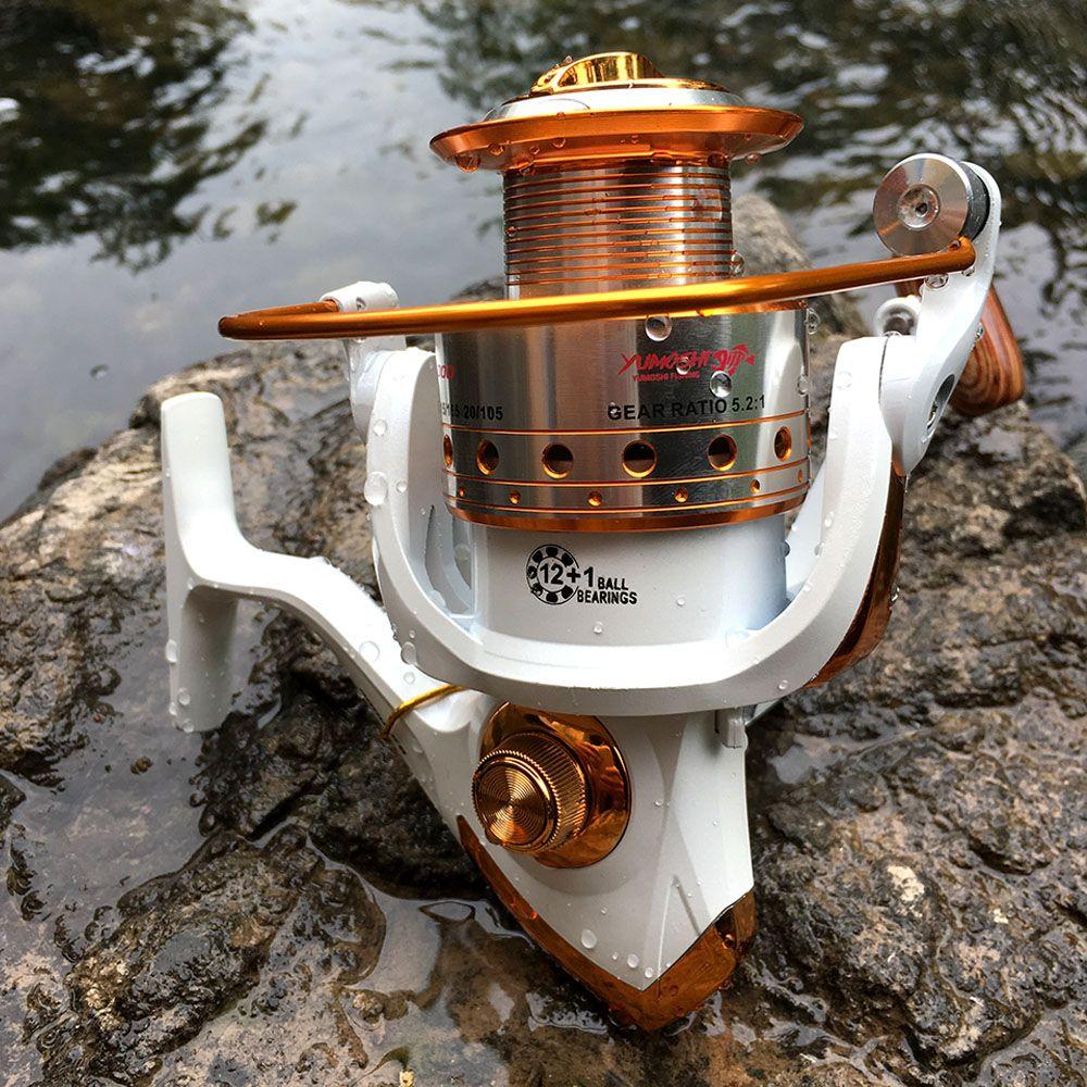 Moulinet de pêche filature 500-9000 série bobine de métal roue de filature pour la pêche de la carpe de pêche en mer