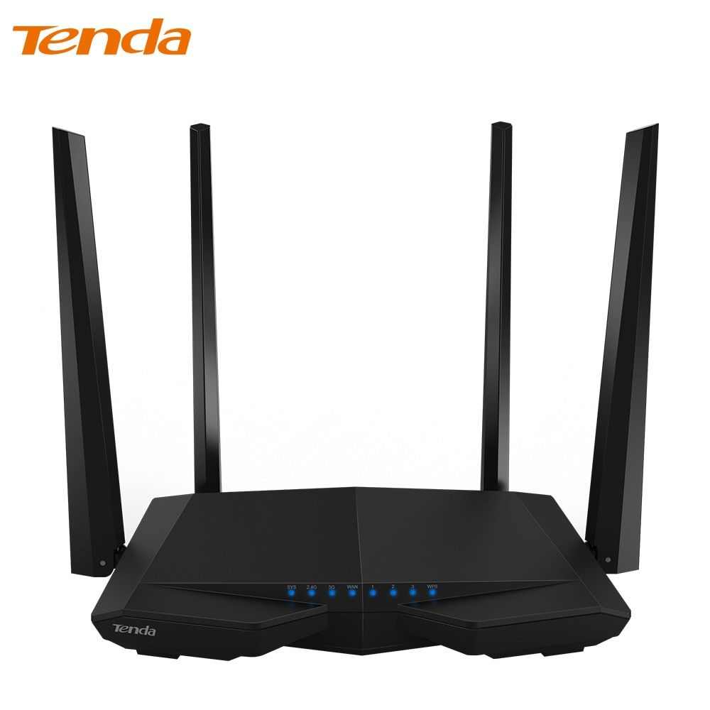 Tenda AC6 Wireless Wifi Router 1200M 11AC Dual Band Wireless Wi-fi Repeater 2.4G/5G APP Remote Control EU/US Firmware RU Custom