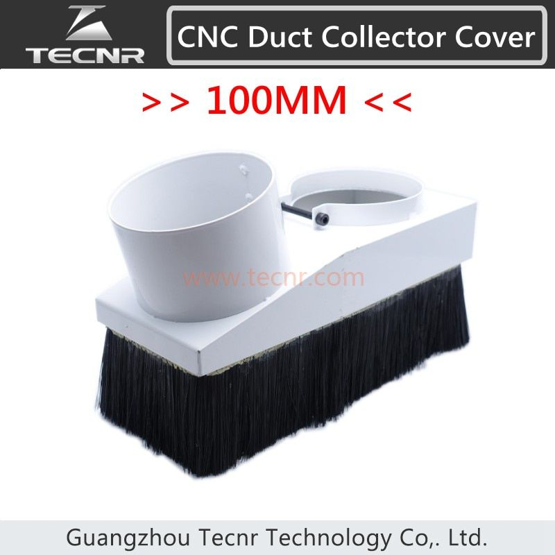 TECNR duct collector device 100mm dust collector cover suitable for 3kw water cool spindle