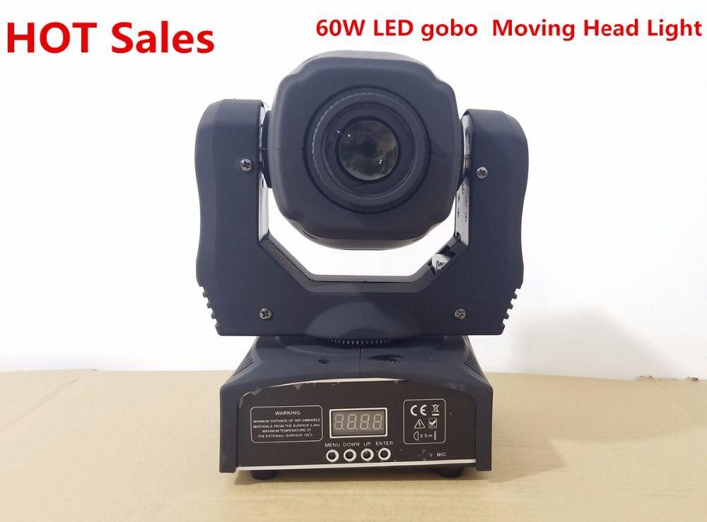 60W LED Spot Moving Head Light/USA Luminums LED DJ Beam Light Led gobo moving heads lights super bright LED DJ Spot Light