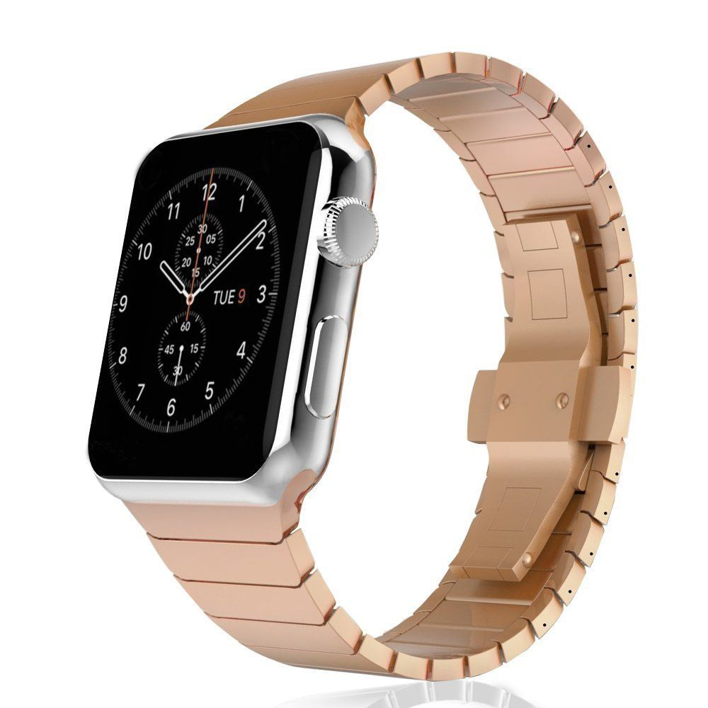 Stainless Steel Strap for Apple Watch Band 38mm 42mm Series 1 2 3 Luxury Business Metal Belt Bands Watchbands for iwatch Straps