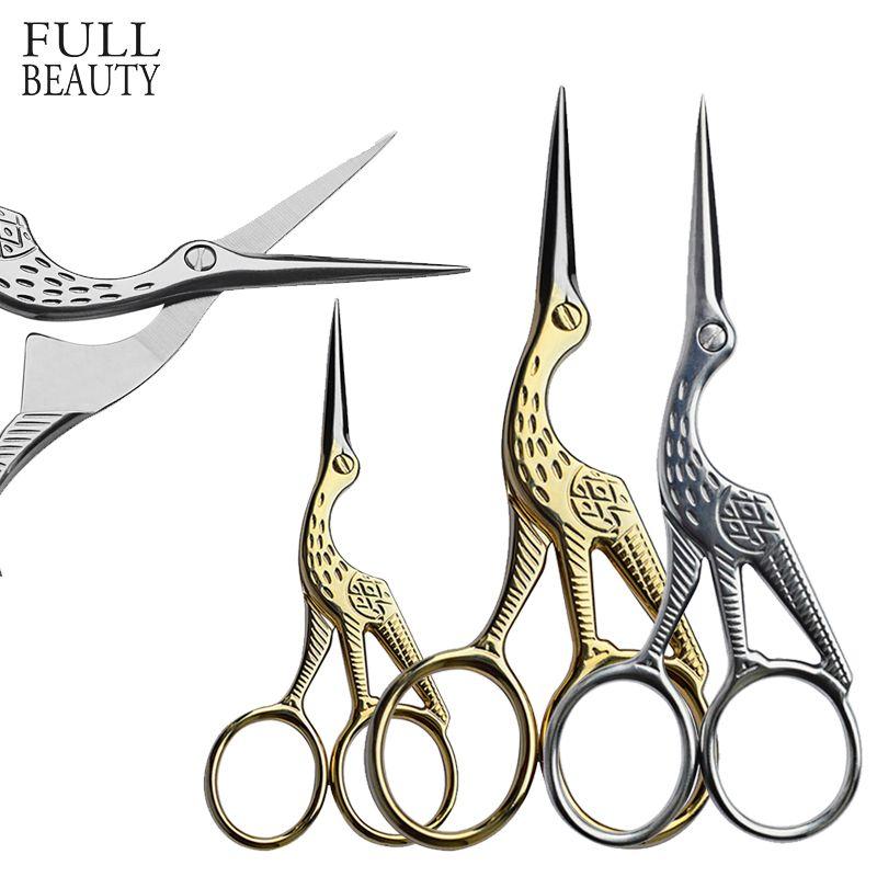 Volle Beauty Nail art Häutchen Edelstahl Scissor Entferner Vogel Stil Reiniger Make-Up Maniküre Cutter Nail Werkzeuge CHXG9445/1150