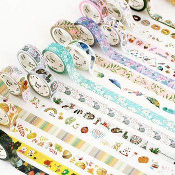 25 Coloré Washi Bande Décorative Du Ruban Adhésif pour le BRICOLAGE Artisanat, enfants Art Projets, album, Journal, planificateur, cadeau Emballage