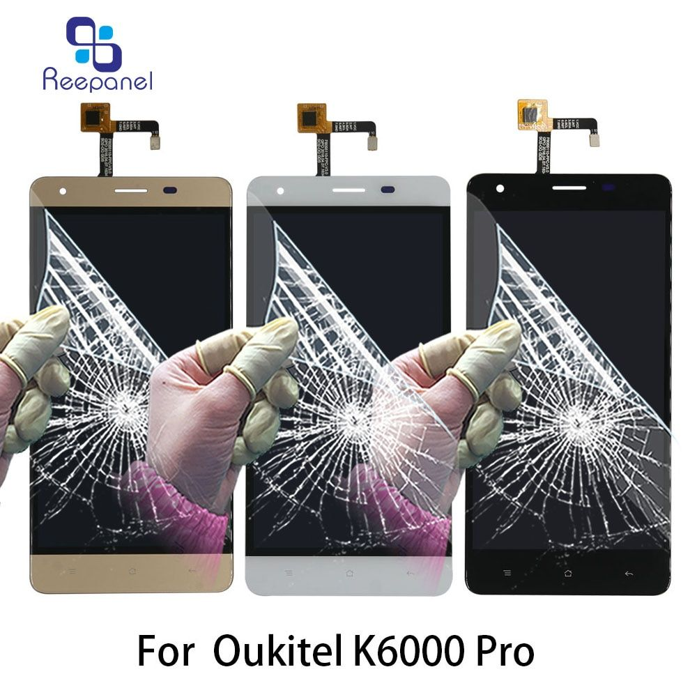 Original LCD Screen For Oukitel K6000 Pro LCD Display Touch Screen Digitizer Assembly Mobile Phone LCDS k6000 pro Replace parts