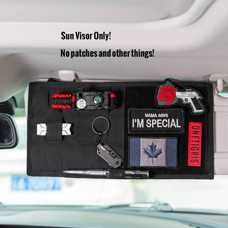 OneTigris Multi-pocket Visor Panel Car Sun Visor Organizer CD Bag Auto Accessories For Travel <font><b>Kits</b></font>