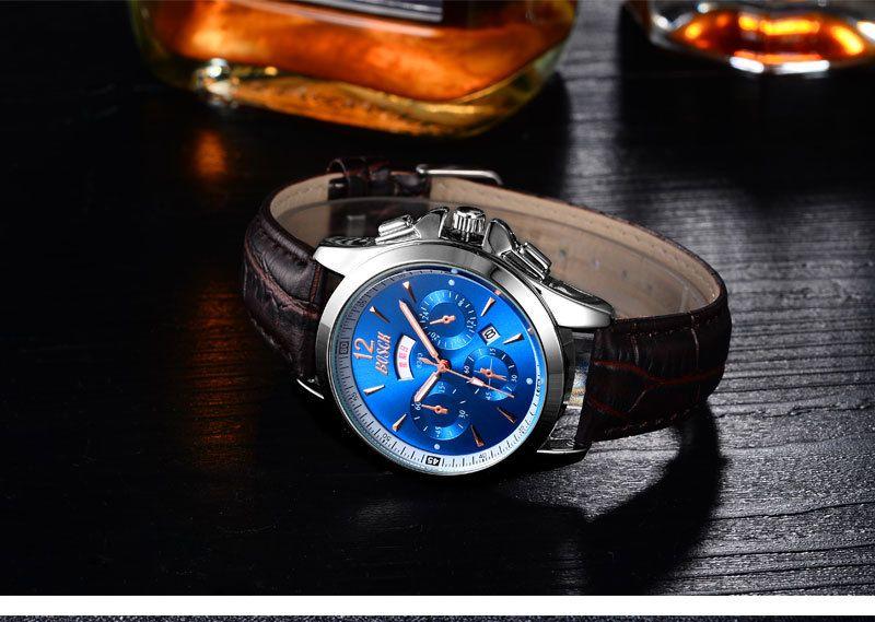 2705 Brand Unique Dial Design Watch Leather Wristwatches Fashion Creative Watch Women Men Quartz Watch Relogio Feminino Hot