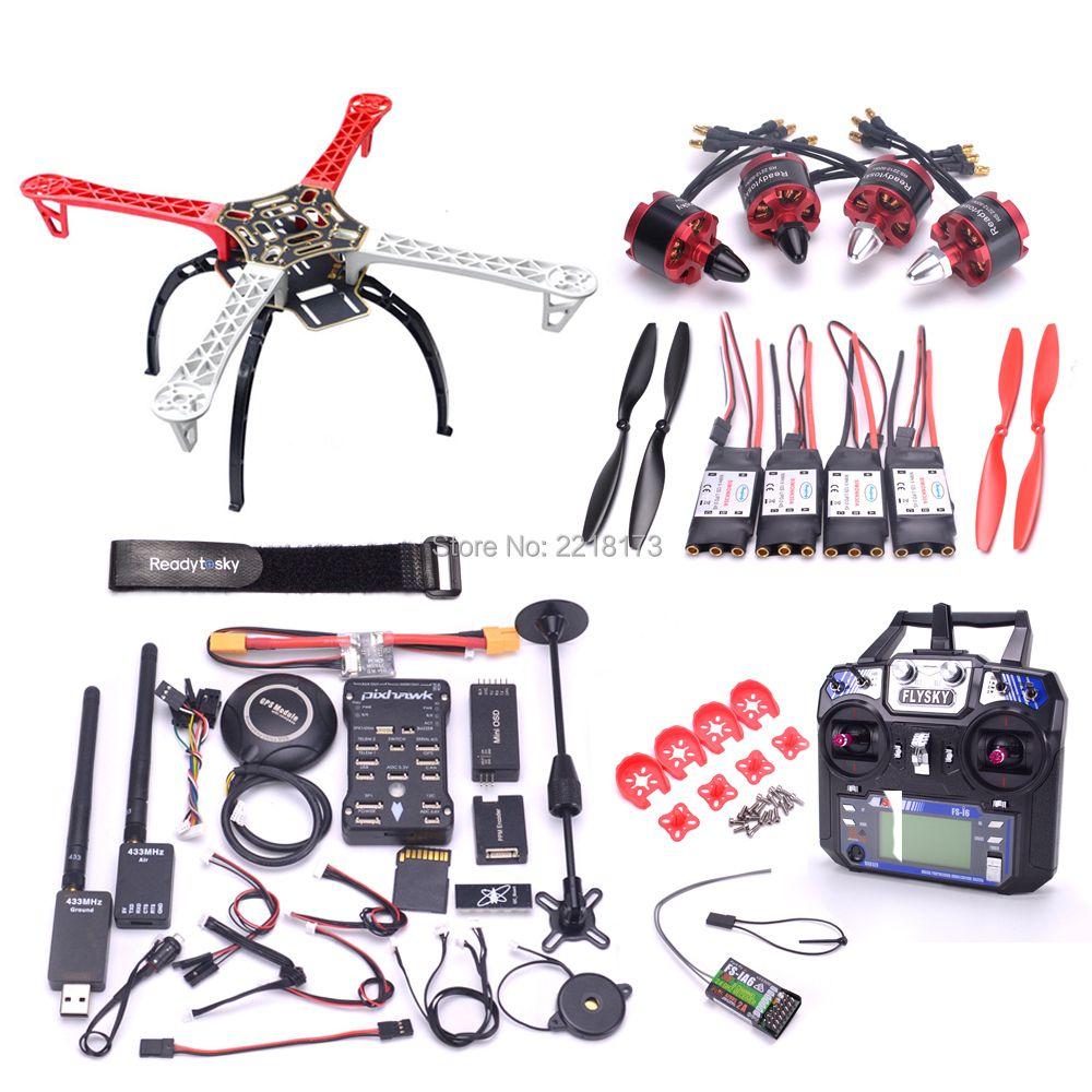 F450 450 Quadcotper Rahmen Kit Pixhawk 2.4.8 32 Bit Flight Controller mit M8N GPS 433 telemetrie 2212 920kv motor Flysky i6 FS-I6