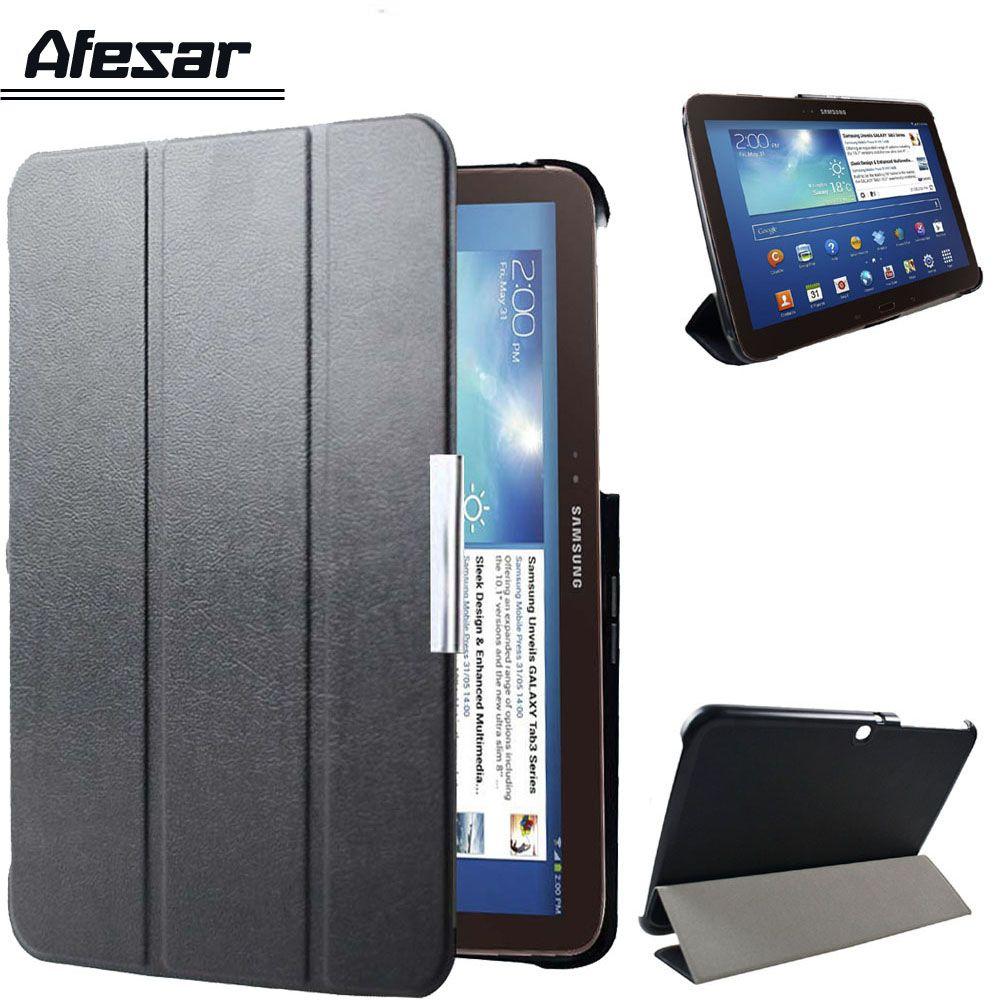GT P5200 P5210 P5220 ultra-mince mince Flip smart cover stand en cuir case pour samsung galaxy tab 3 10.1 livre folio couverture veille automatique