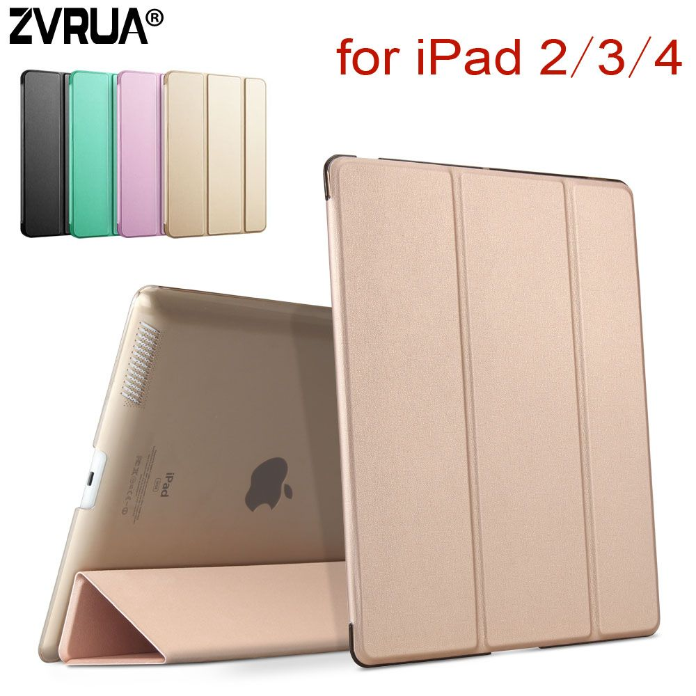 Pour iPad 2/3/4, ZVRUA YiPPee couleur PU étui intelligent aimant réveil sommeil pour apple iPad2 iPad3 iPad4
