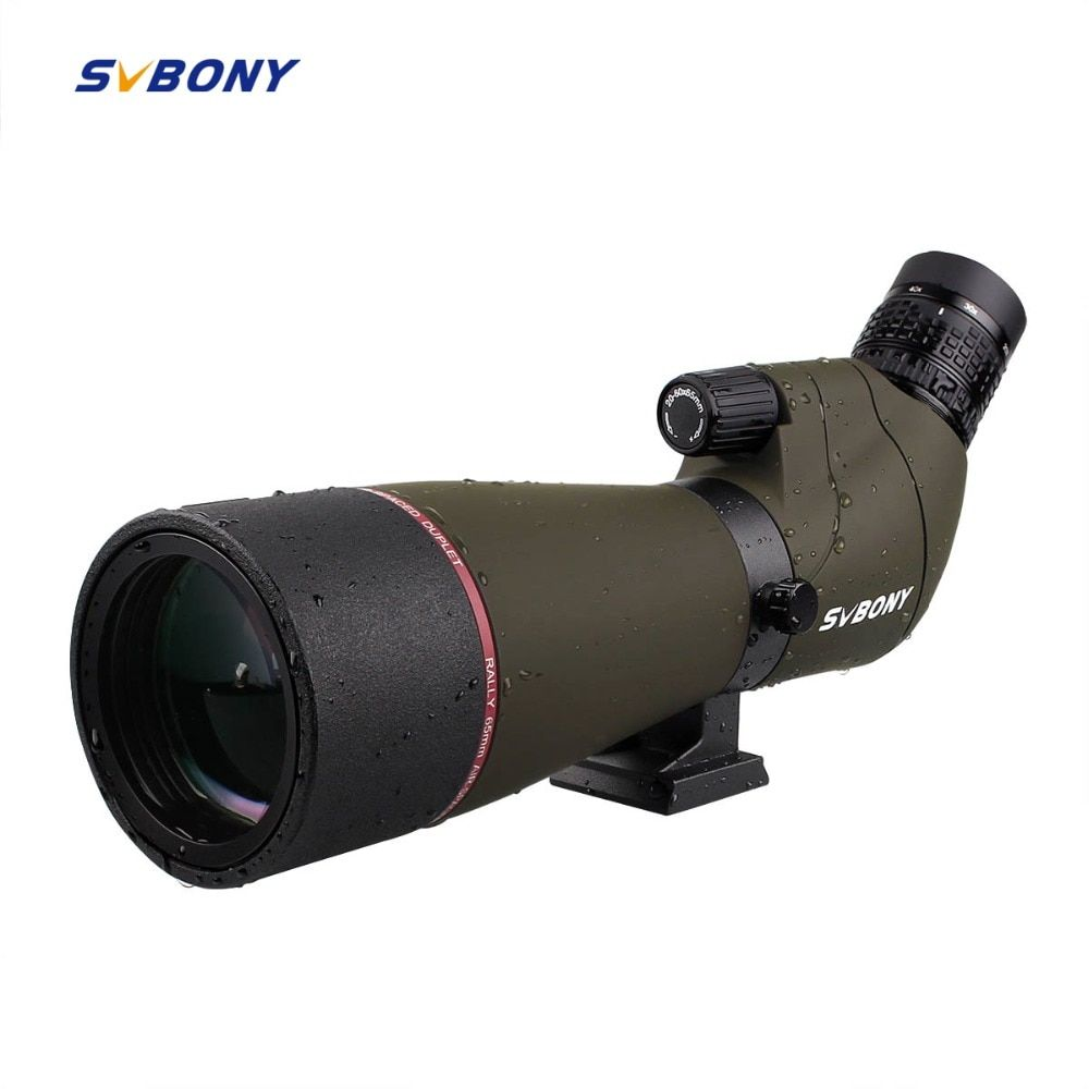 SVBONY SV13 Spotting Scope 20-60x 65mm Zoom MC Optics Refractor 45 DE Powerful Telescope+Phone Adapter Archery Birdwatch F9314