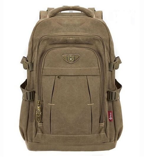 Man's Canvas Backpack Travel Schoolbag Male Backpack Men Large Capacity <font><b>Rucksack</b></font> Shoulder School Bag Mochila Escolar