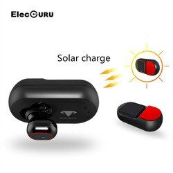 Elecguru Solar charge Powered bluetooth headphones wireless earphone with Permanent Supply Safety and Environment for iPhone