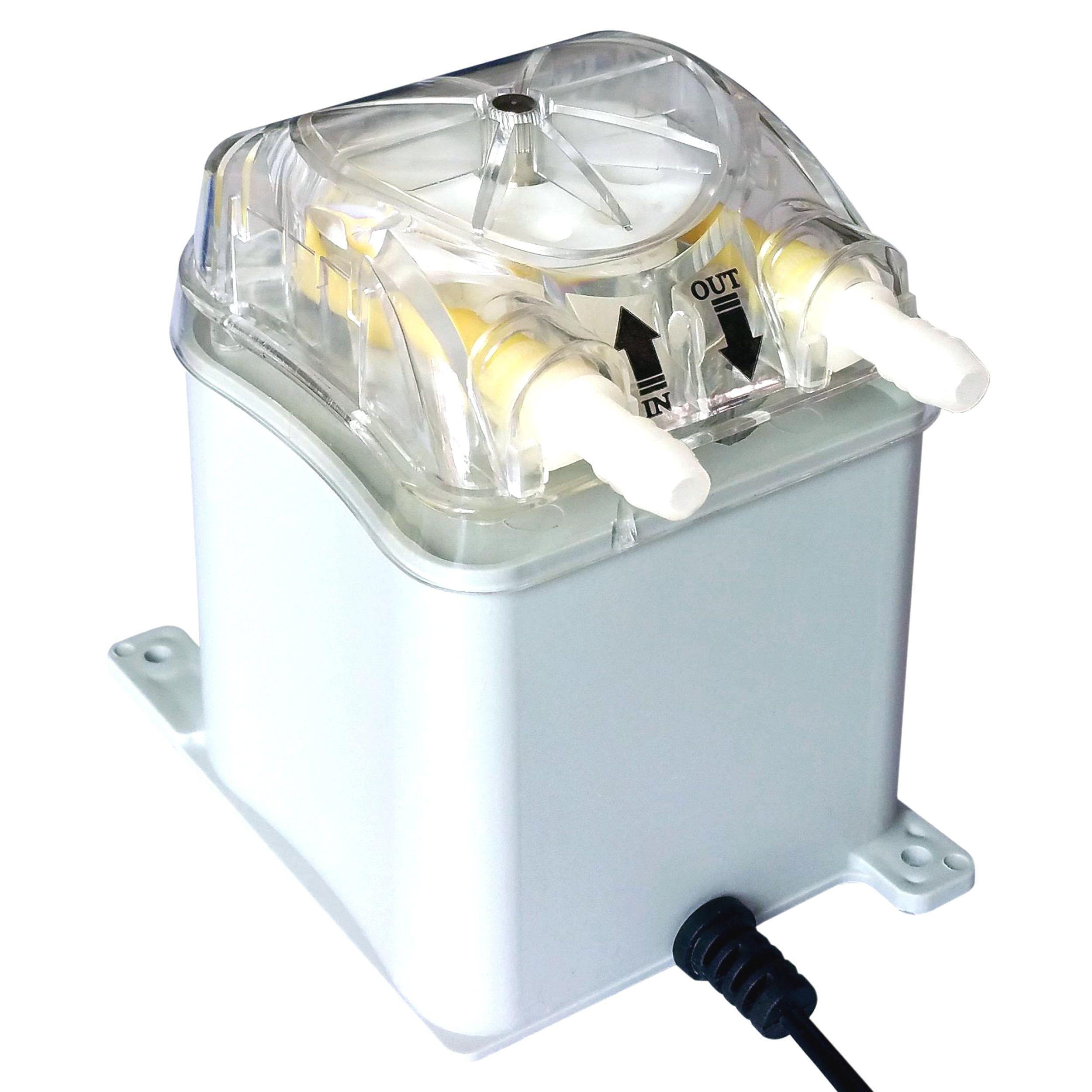 Pompe péristaltique 1000 ml/min, 30psi, Honlite 24 V avec tête de pompe échangeable et Tube péristaltique BPT