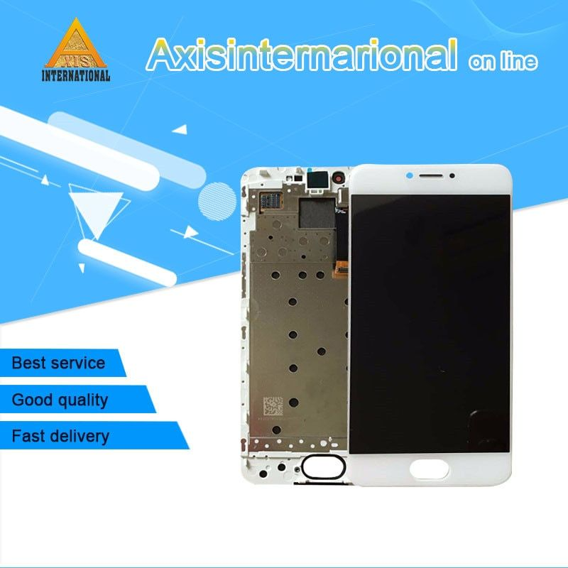For 5.2'' Meizu pro 6 M570M M570Q M570C Axisinternational LCD display screen+ Touch Digitizer with frame white/black Free shippi